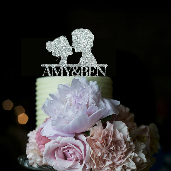 Wedding Cake Recipe Custom History: Acrylic Custom Wedding Cake Toppers Silver Wedding