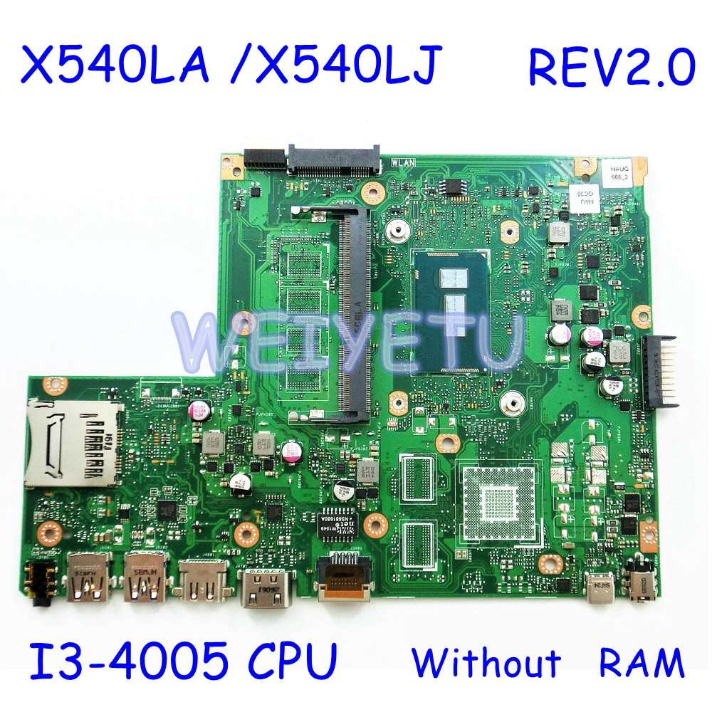X540LA I3-4005CPU Notebook mainboard For <font><b>ASUS</b></font> <font><b>X540</b></font> X540L X540LA X540LJ F540L laptop <font><b>motherboard</b></font> Rev2.0 100% tested mainboard image