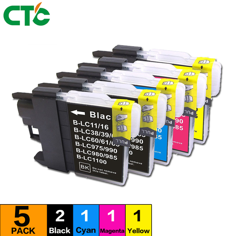 5 Compatible for Brother MFC-250CInk Cartridge Printer MFC-290C ink 490CW 790CW 990CW 5490CW 5890CN 6490CW 6890CDW 950DN J950DWN