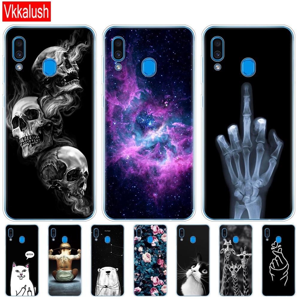 Silicon Sfot Case For Samsung Galaxy A20 A20E Cover A 20 2019 A205F A202F Full 360 Protective