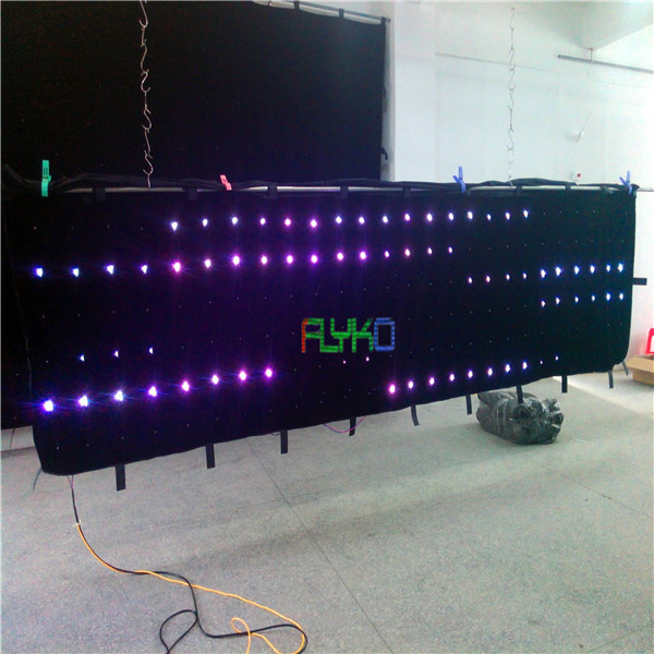 free shipping chrismas/ party/wedding decoration led video curtain P18 1X5M