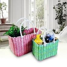 Plastic Woven Storage Basket, Fruit And Vegetable Shopping Basket, Pet  Baskets, Bath Baskets