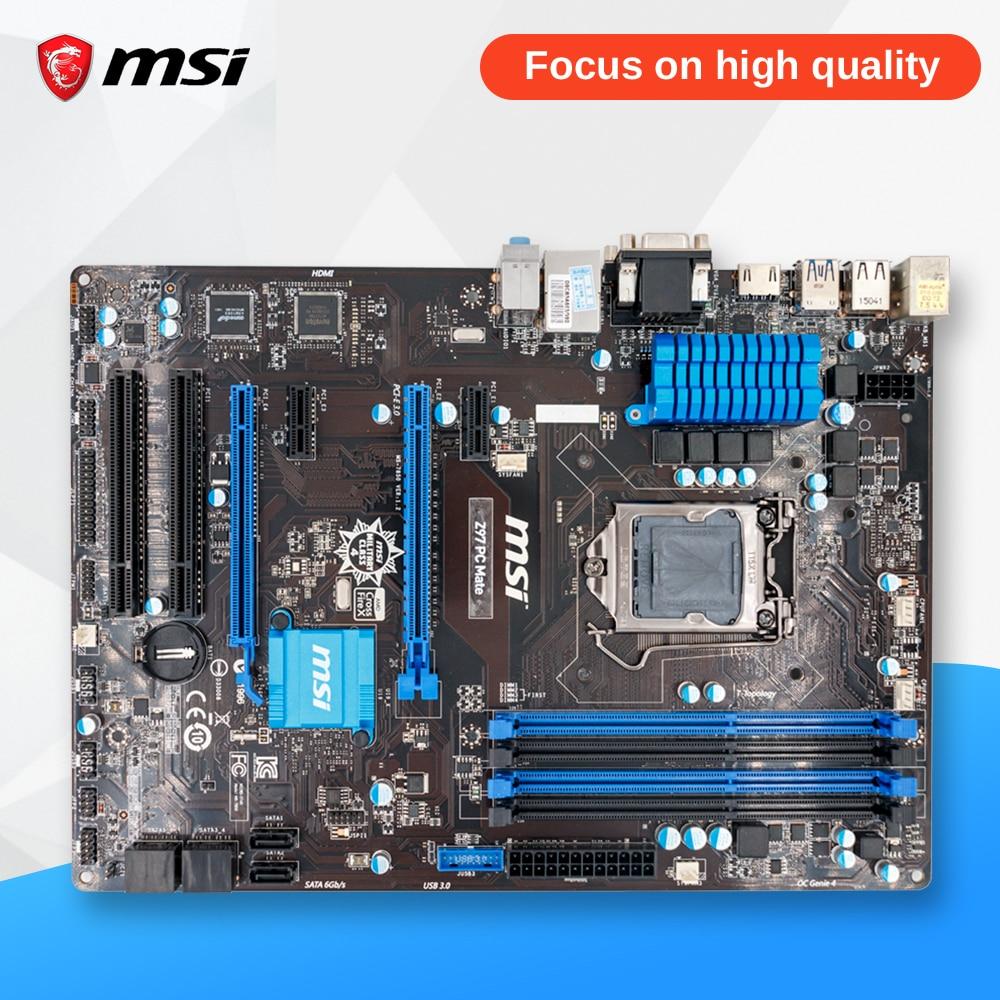 все цены на MSI Z97 PC MATE Desktop Motherboard Z97 Socket LGA 1150 i3 i5 i7 DDR3 32G SATA3 USB3.0 ATX