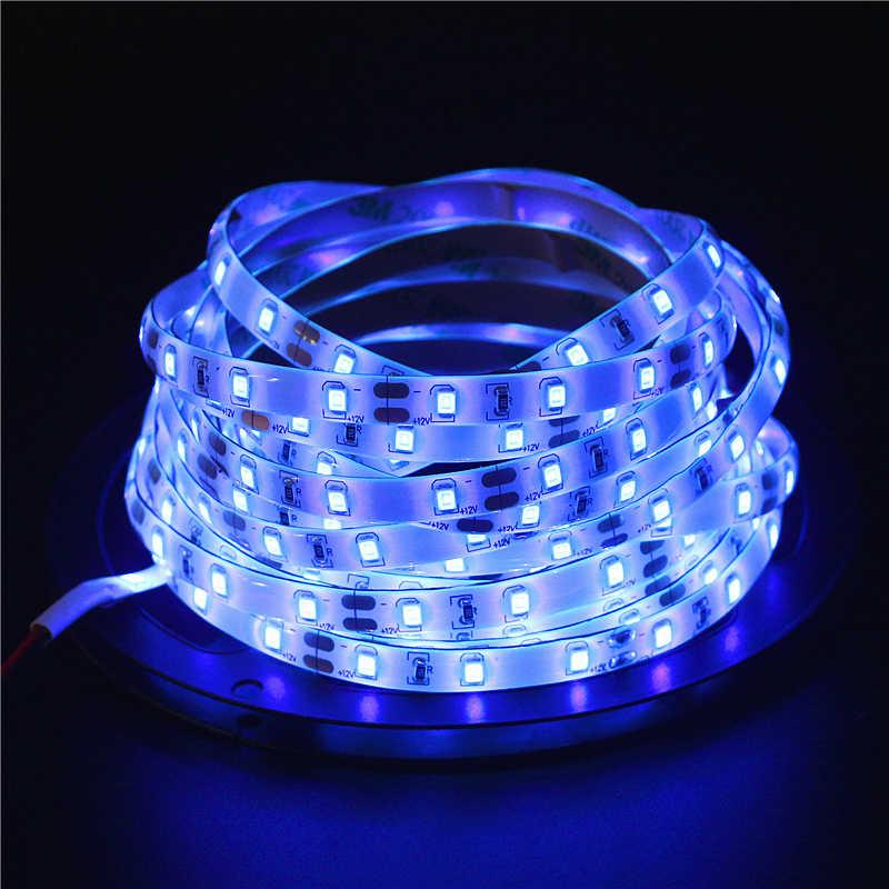 5 м 12 В 2835 УФ 60 светодио дный s/m ультрафиолетового светодио дный полосы 395nm 2835SMD фиолетовый 300 светодио дный гибкие ленты свет IP20/IP65 водонепроницаемая лента лампа