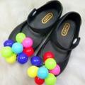 Brazil Mini Melissa Shoes 2016 Summer Girl Sandal Shoes Girls Sandals Fish Head Cute Color Grapes Children Sandals High Quality