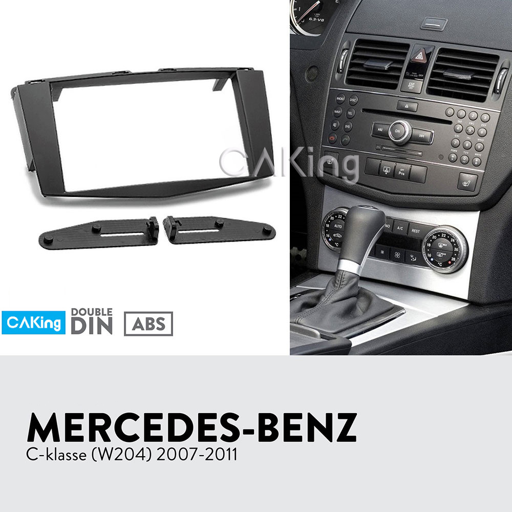 Double Din Fascia Radio Panel for MERCEDES BENZ C klasse W204 2007 2011 Audio Frame Dash