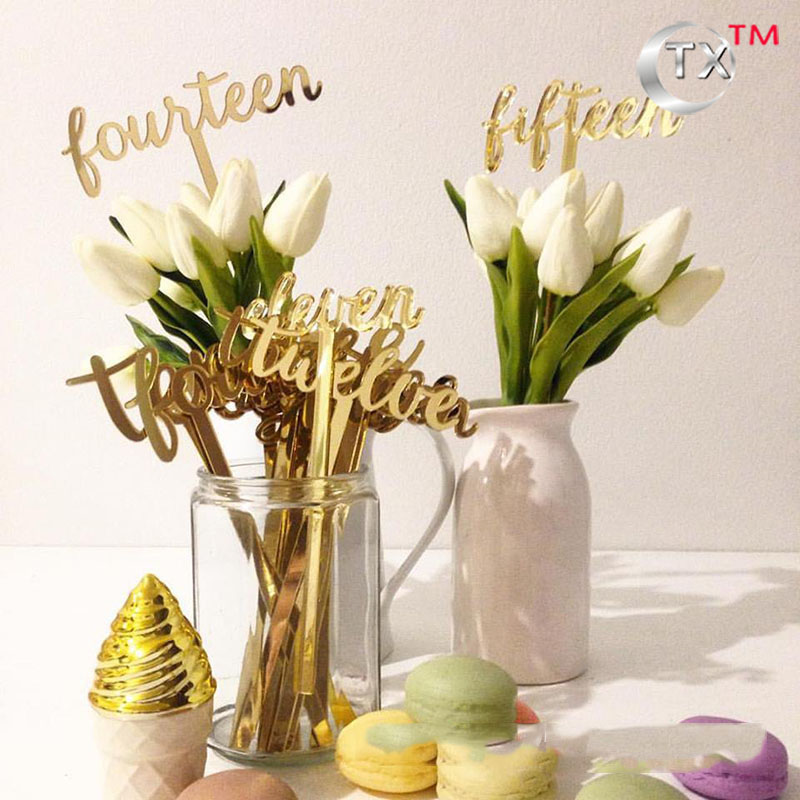 Attractive Acrylic Wedding Table Numbers, Gold Silver Mirrored Table Number, Standing  Table Numbers, Table Centerpiece