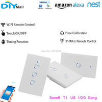 Sonoff T1 US Wifi Touch Wall Light Switch 1 2 3 Gang 315MHz RF APP Remote