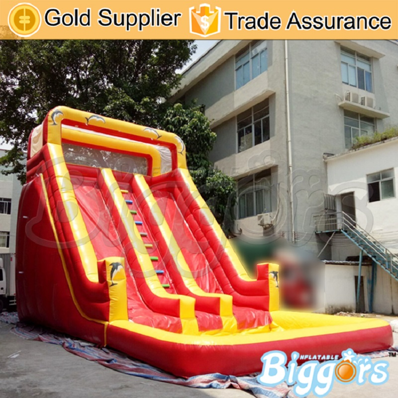 Biggors Wholesale Price Inflatable Water Slide With Pool inflatable pool slide funny water slide combo dual slides