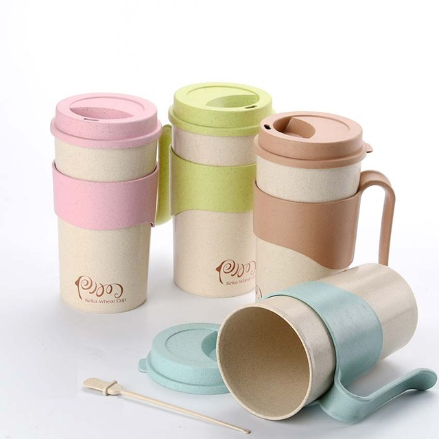 Hot Sale Ml Wheat Cup Stirring Coffee Mug Tea Milk Coffee Travel
