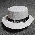 Новый летний белый соломенные шляпы для женщин солнце пляж шляпы с бантом с плоским верхом сомбреро бесплатная доставка SDDS-024