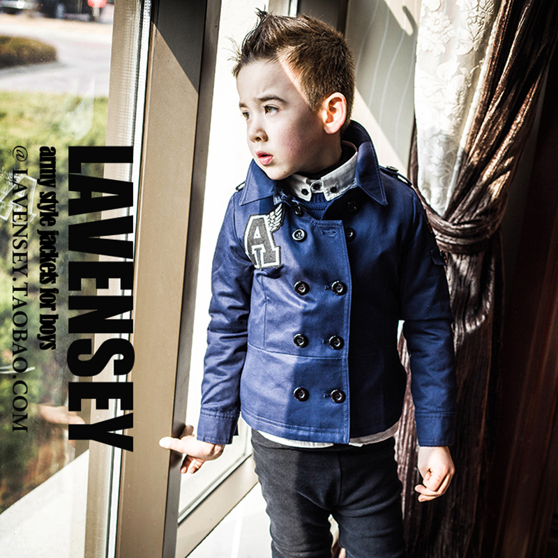 Lavensey original autumn Winter Children Clothing  baby Boys cotton Coats  kid's windbreake free shipping