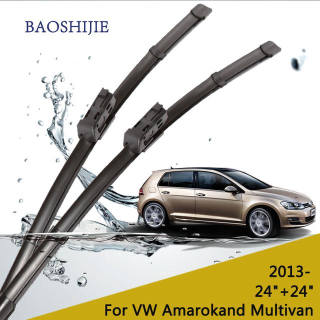 """Escovas para VW Amarok (2013-) e VW Multivan (2014-) 24 """"+ 24"""" fit botão tipo de braços do limpador apenas HY-075"""