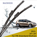 "Wiper blades for VW Amarok (2013 -) and VW Multivan (2014 -) 24""+24"" fit push button type wiper arms only HY-075"