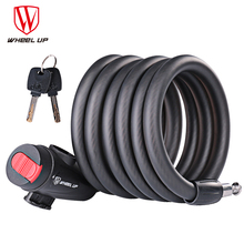 WHEEL UP 1.8m Anti Theft Bike Lock Bicycle Accessories Steel Wire Security Cable MTB Road Motorcycle Equipment