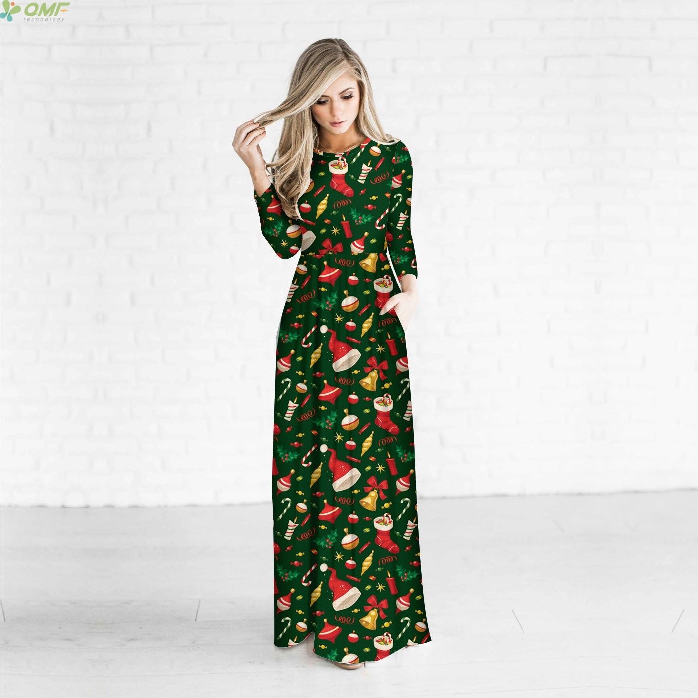 christmas gift holiday women maxi dress fashion party long