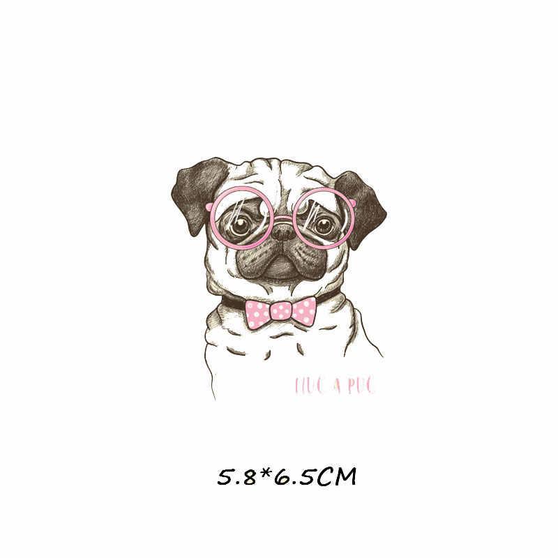 Симпатичная нашивка с собакой, моющиеся виниловые наклейки с теплопередачей на одежду, аппликация для утюга, термопресс для одежды, футболки
