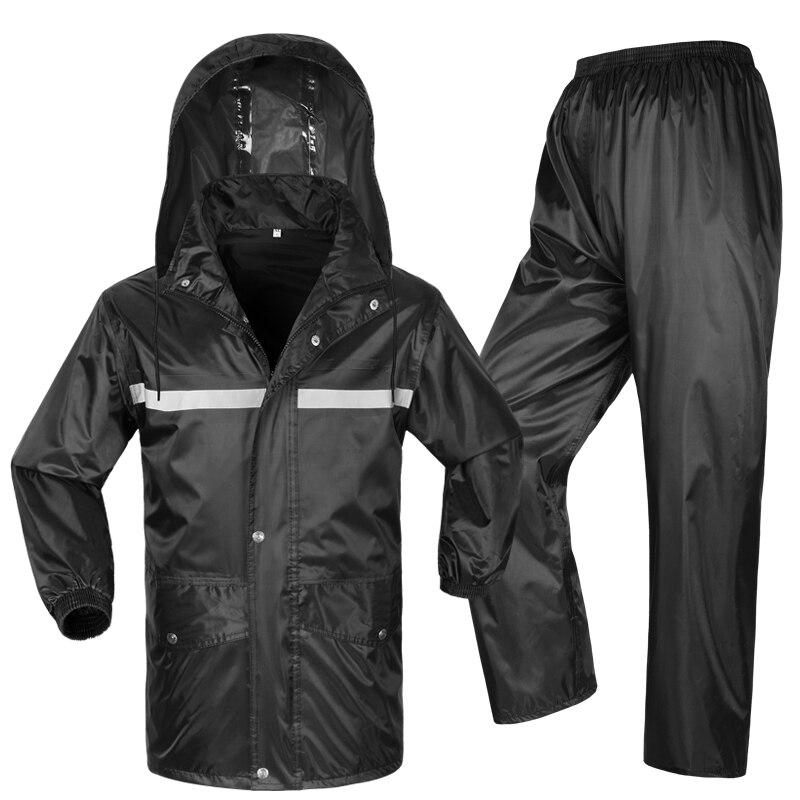 2017 Motorcycle waterproof jacket reflective raincoat & pants double layer moto rain Jackets Electric bicycle Rain clothing