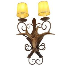 Aplique retro de pared para baño, lámpara de noche con espejo Estilo nórdico Vintage, lámpara de vestidor, mesa de salón, bar, lámpara led con cuernos
