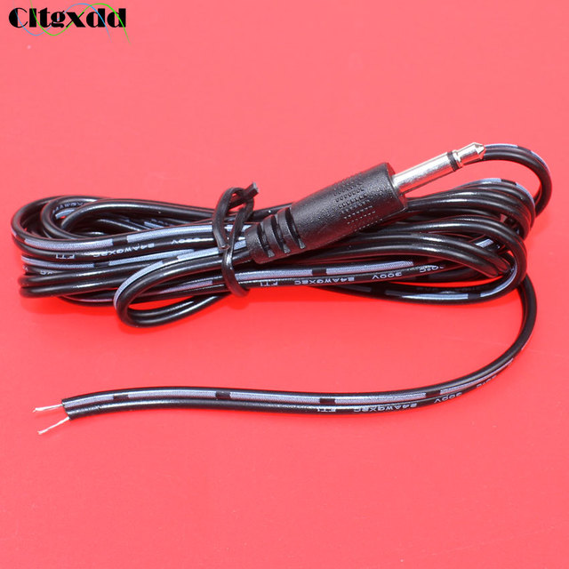 cltgxdd 3.5mm Mono Stereo Headset male Plug with cable 2 pole 3.5 mm Audio Jack Adapter Connector length1.5m