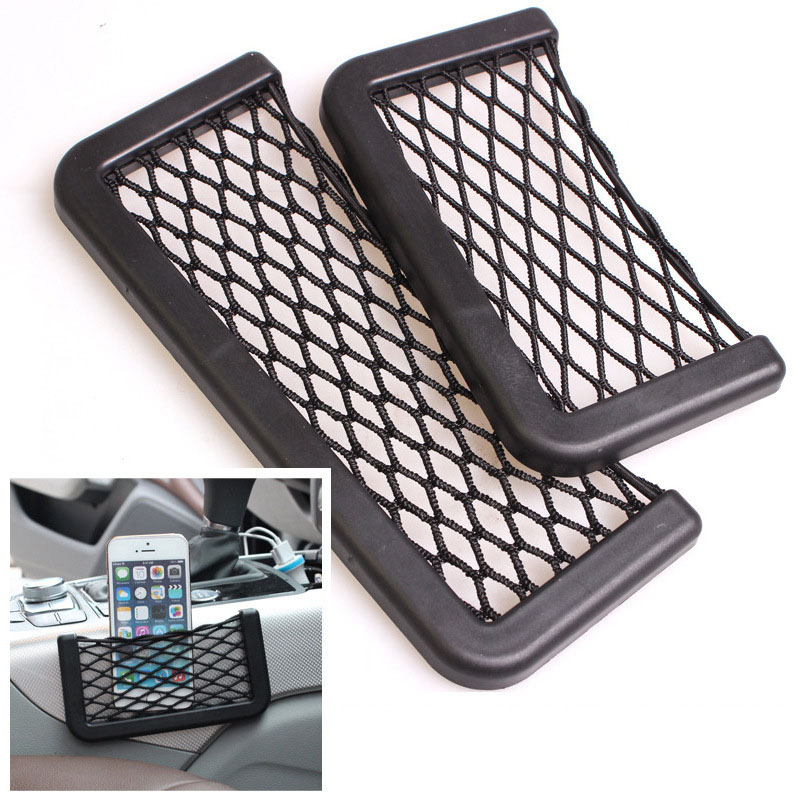 SIANCS Pocket Cellphone Holder Car Wall Net Storage Bag for iPhone 5 5S 6 6 Plus Samsung LG Smartphone Viechle Door Organizer