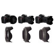 52 67 77 мм лепестковая 3 ступенчатая Складная резиновая силиконовая фотобленда для Canon Nikon Sony Yongnuo 52 мм 77 мм 67 мм