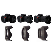 52 67 77 mm Petal 3 Stage 3 in1 Collapsible Rubber Silicon Foldable Lens Hood for Canon Nikon Sony Yongnuo 52mm 77mm 67mm
