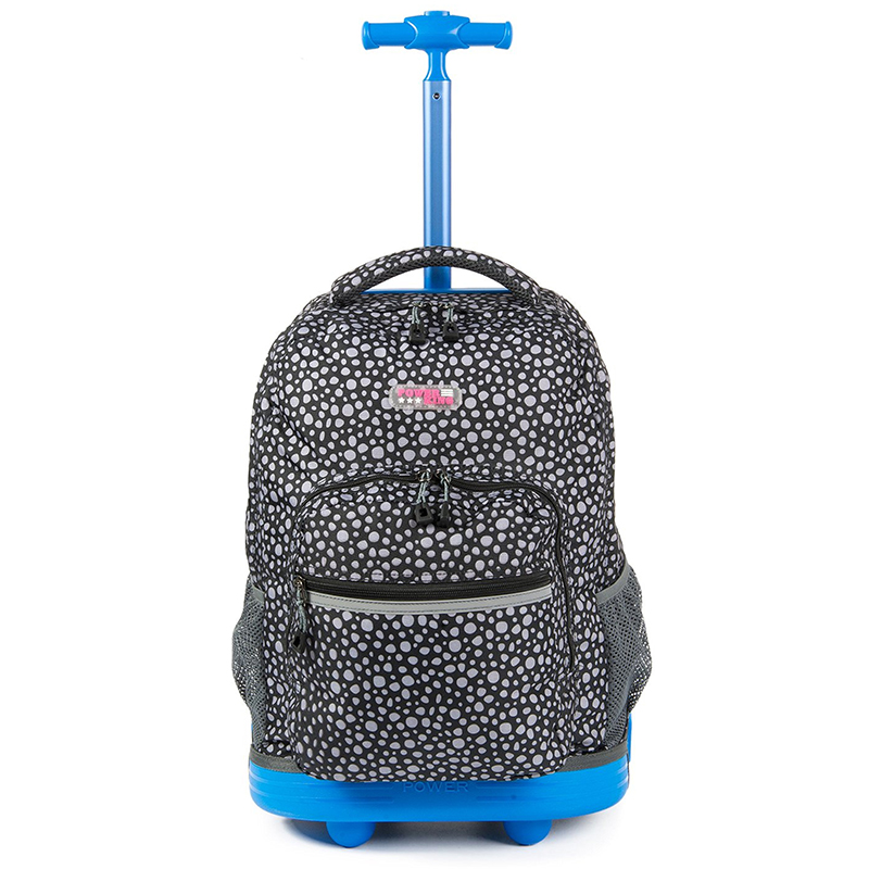 Two Colors Kids School Backpack On wheels Rolling Backpack Girls Boys For Students Teena ...