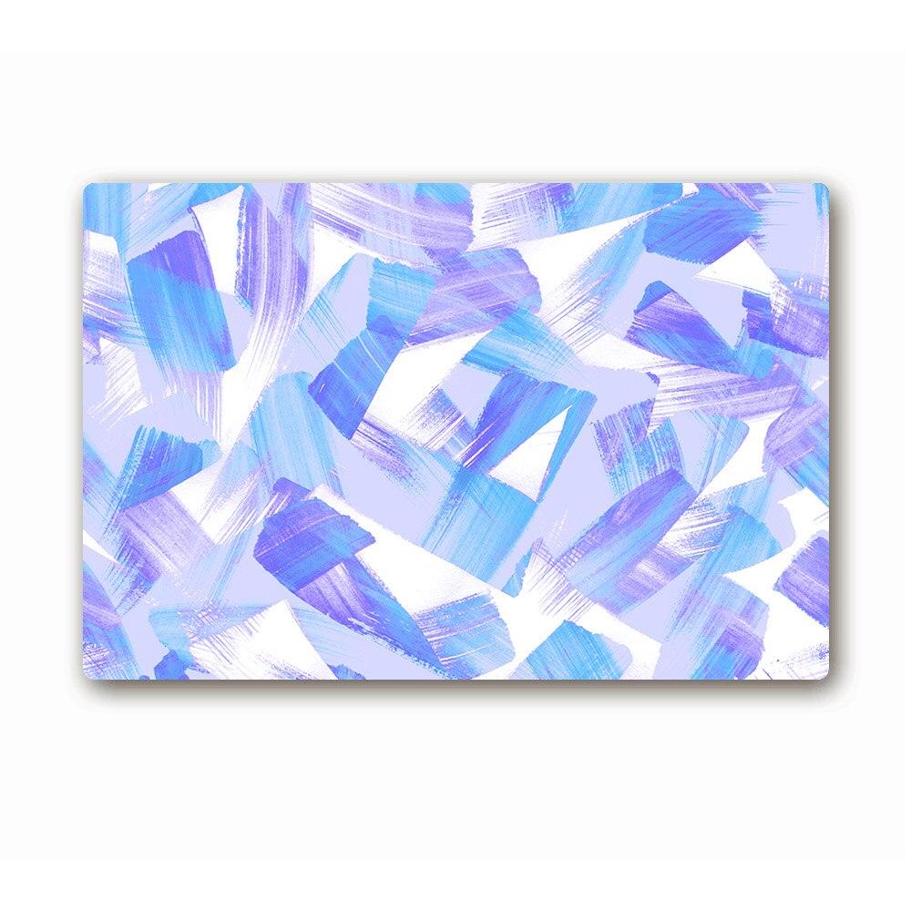 Rubber floor mats price - 2017 New Sale Blue Abstract Pattern Floor Mats Printed Bathroom Kitchen Carpet House Doormats Custom Rubber Carpets Anti Slip