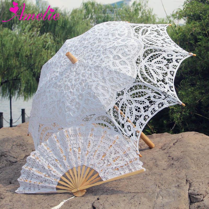 Honeystore Bridal Lace Wedding Parasol Umbrella Decorative Umbrella BM1618
