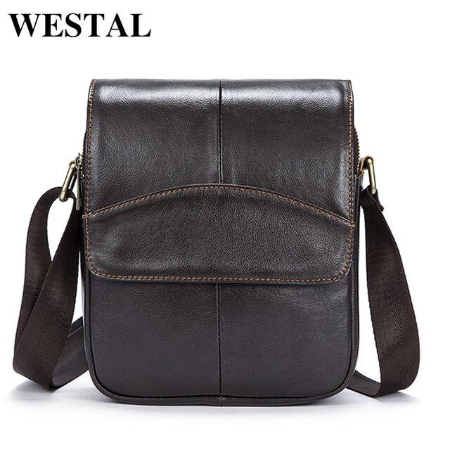 WESTAL Messenger Bag Men Leather Bag Male Genuine Leather Men Bags Fashion  Shoulder Crossbody Bags for Man Small Flap Bolsa fc21ed8f94a74