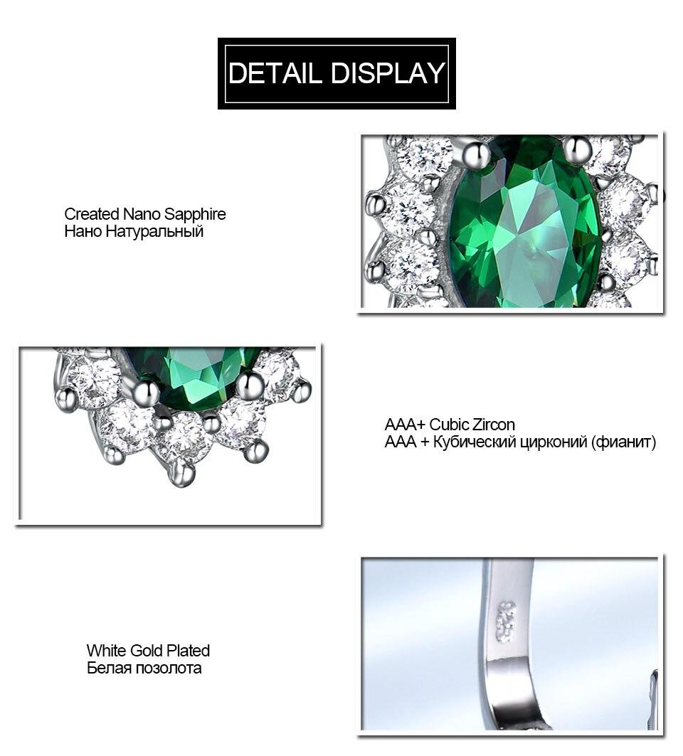 UMCHO-Emerald-925-sterling-silver-clip-earrings-for-women-EUJ074E-1-PC_05