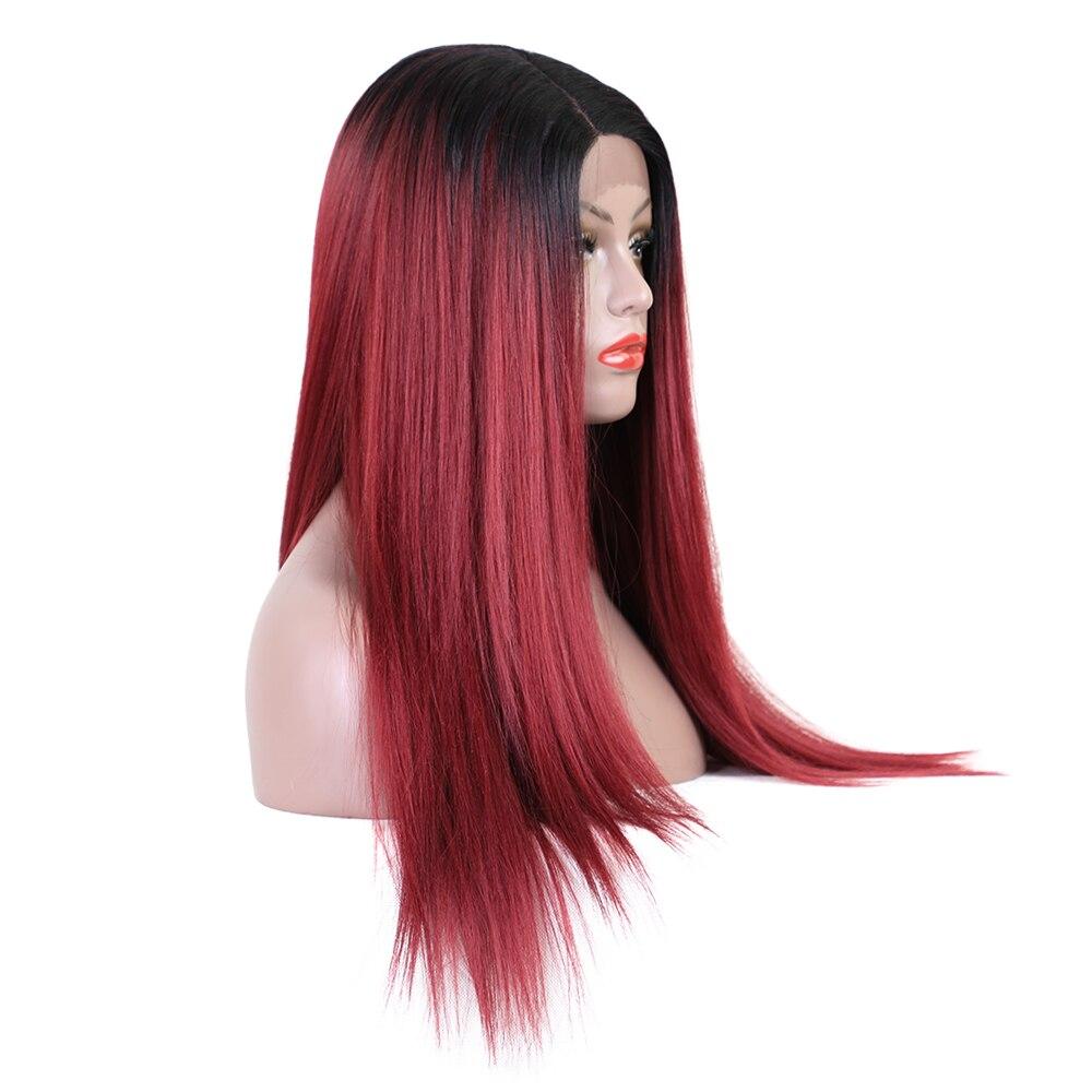 Στοιχείο 26 ιντσών μακριές ευθείες - Συνθετικά μαλλιά - Φωτογραφία 4