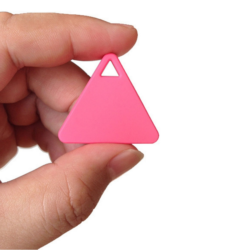 Mini Tirangle Smart Bluetooth 4.0 GPS Tracker Anti-lost Key Alarm Locator for Bag Wallet Pet Child Kids Luggage Keychain Finder