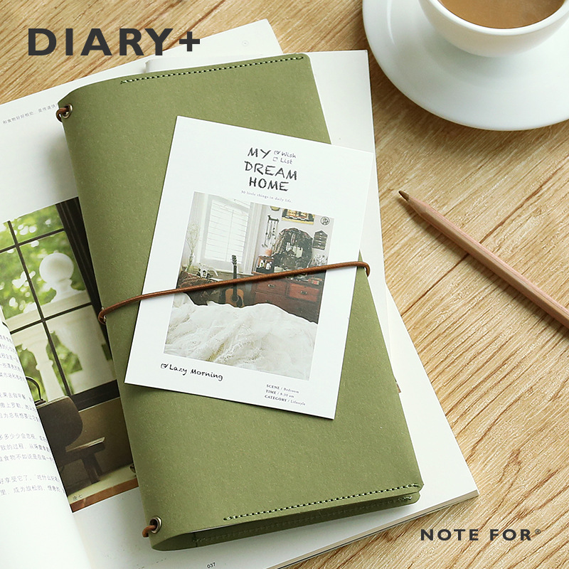 Note For Diary Creative Vintage Band Journal Book Portable Monthly Weekly Planner 68 Pages Midori Fashion Notebook Free Shipping creative art fashion a6 journal planner book weekly monthly daily page blank paper pu leather diary notebook gift free shipping