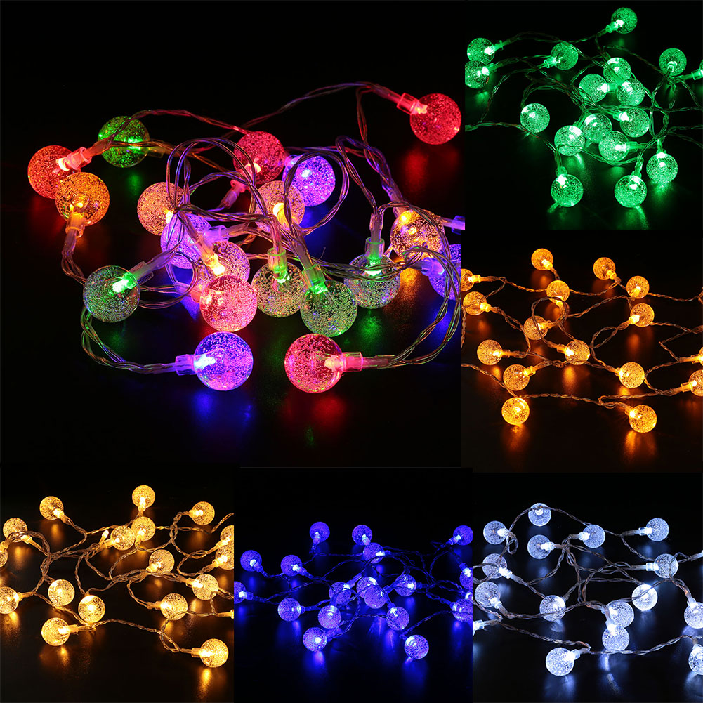 2M 20 LED Crystal Bubble Ball Light String Christmas Halloween House Decoration-in LED Strips ...