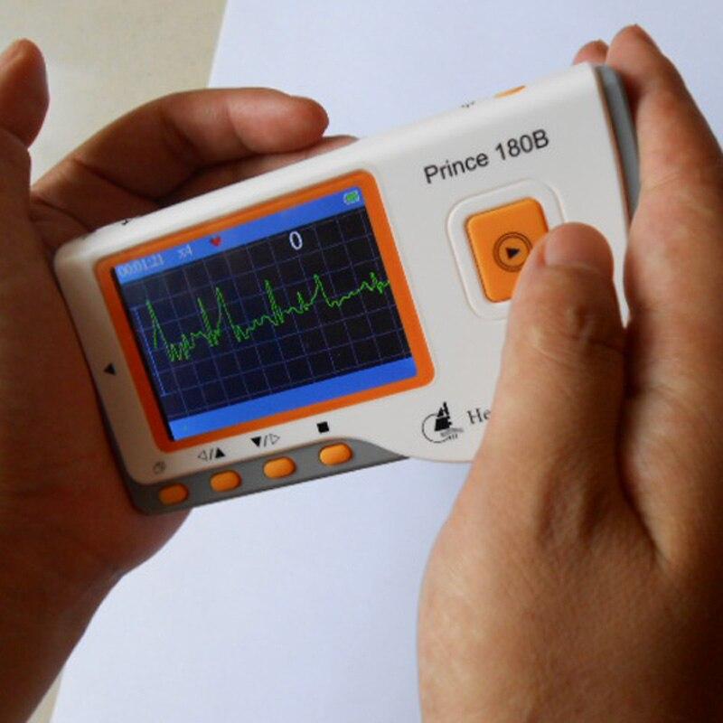 Heal Forza Principe 180B Software USB Per Uso Domestico Portatile Cuore Ecg EKG Palmare Monitor di Cuore Misurazione Continua Schermo a Colori