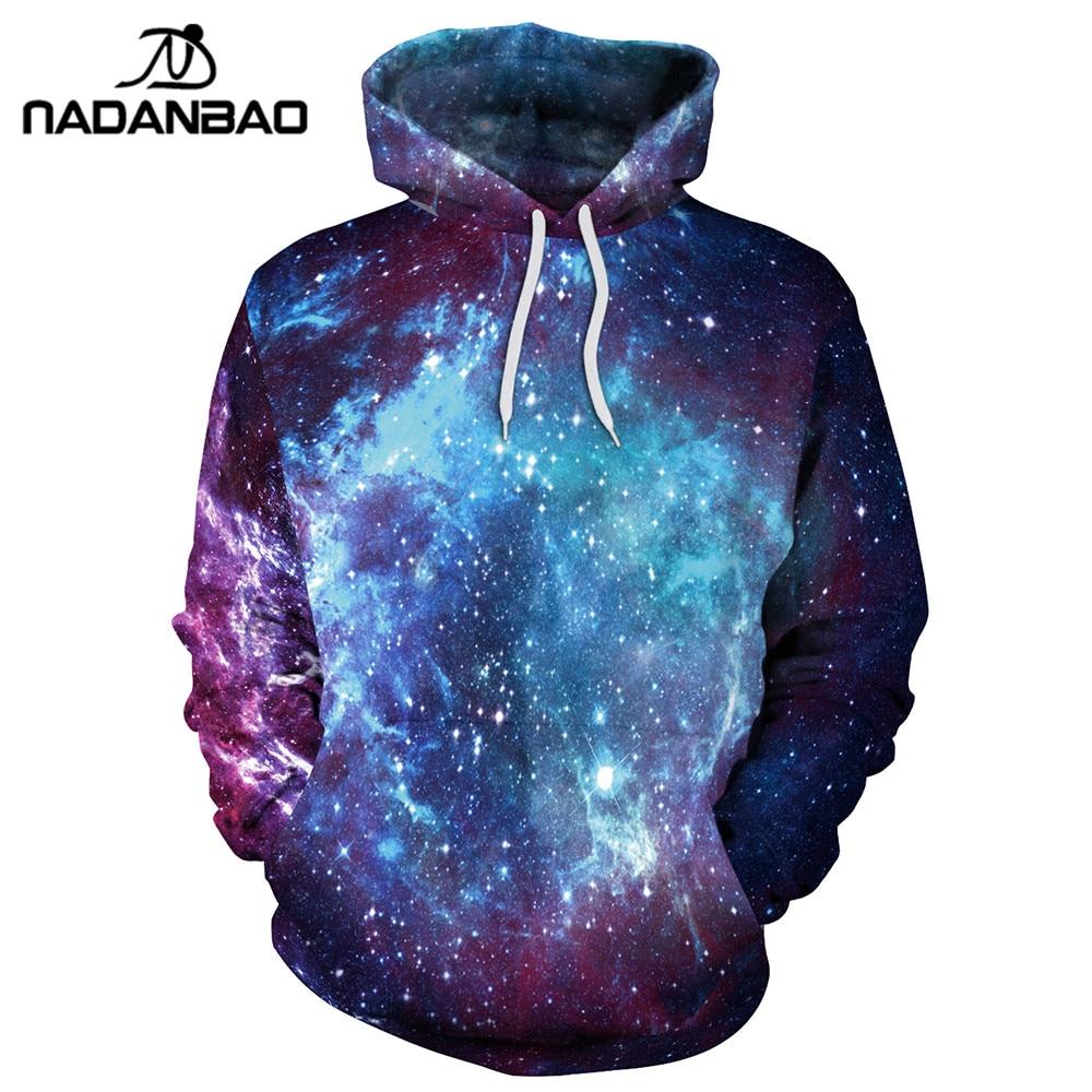 NADANBAO New Style Hoodies Sweatshirts Galaxy Space Hiphop 3D Printed Women Hoodie Bts