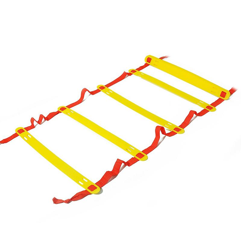 8 Rungs Gait Training Ladder Agility Orange Exercise Sports Plastic Football Soccer Team Outdoor Equipment