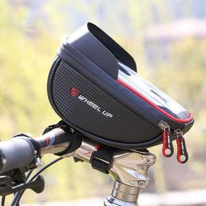 Image 5 - Wodoodporny futerał na telefon komórkowy stojak na iphone 11 XS Max XR torba na telefon do Samsung S10 S9 Plus rowerowa przednia torba na kierownicę