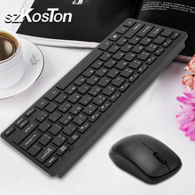 2.4G Wireless keyboard Mouse Combo with USB Receiver for Desktop Computer PC Laptop and Smart TV