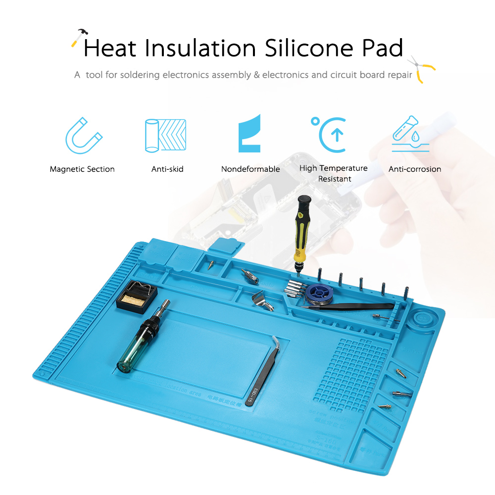 450*300mm Heat Insulation Silicone Pad Repair Mat for BGA Soldering Repair Solder