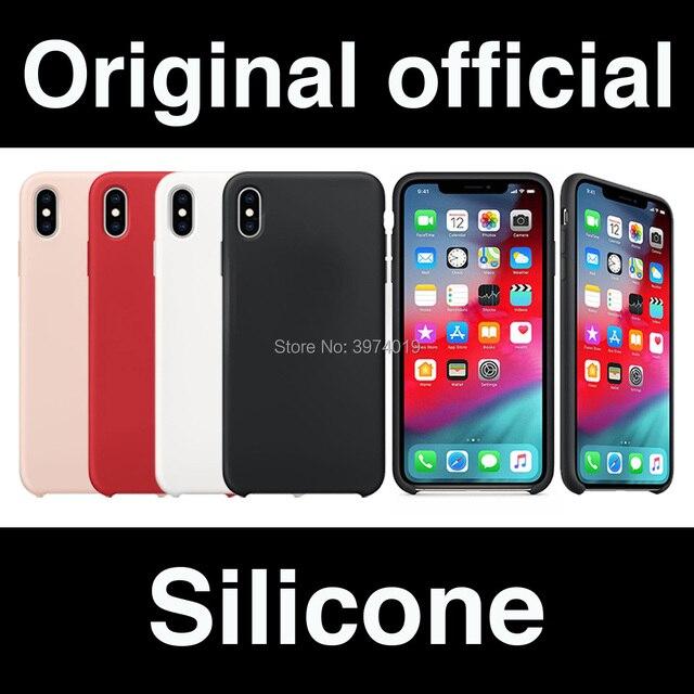 c9c2ddc2ab3 Diseño Original de silicona oficial a estrenar Sin Logo funda suave para  iPhone X Xs XR