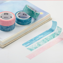 6 pcs/Lot Nature color masking tape washi paper tapes 15mm*7m Decorative sticker for frame diary Stationery School supply FJ635