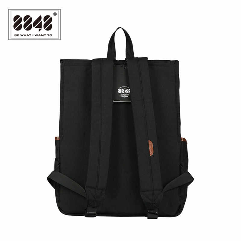 8848 Unisex Backpack Black Oxford Waterproof SchoolBag Large Capacity Knapsack 15.6 inch Laptop Backpack For Female Male D002-3