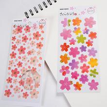Fresh Crazy Sakura Fans Decorative Washi Stickers Scrapbooking Stick Label Diary Stationery Album Stickers
