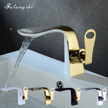 Bathroom Faucets Basin Mixer Tap Gold Color Hot and Cold Luxury Washbasin Taps Vintage Sink Mixer Water Taps Torneiras WB1003 bathroom basin faucets jade gold washbasin tall taps faucet vanity vessel sink mixer cold and hot water bathroom basin tap mixer