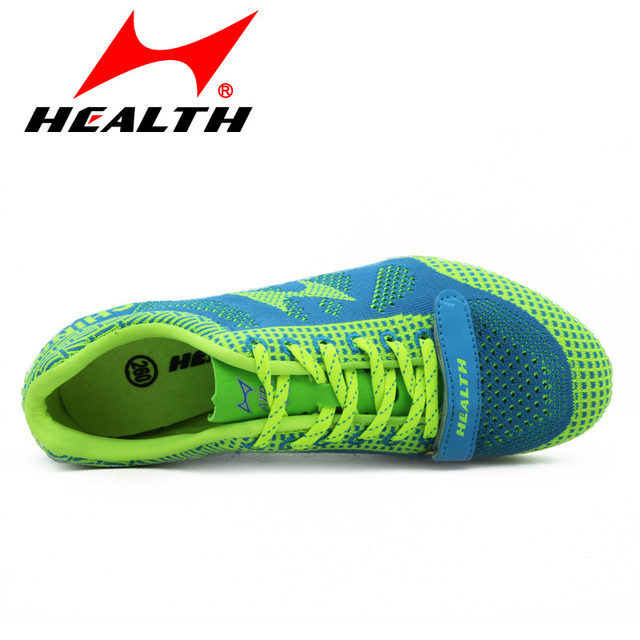 Health track and field for men spike antidepilation spikes sprint running shoes sports professional nail shoes plus size 35-45