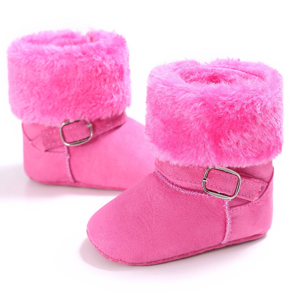 Baby Girl Winter Soft Booties Snow Shoes Cashmere Boots Toddler Warm Shoes UK