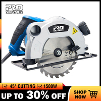 PROSTORMER Circular Saw 1500W 185mm(7inch) Electric Woodworking Tools LED Light Multi function Flip Cutting Machine Power Tools